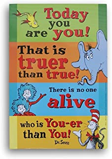 Dr Seuss Today you are you double sided poster