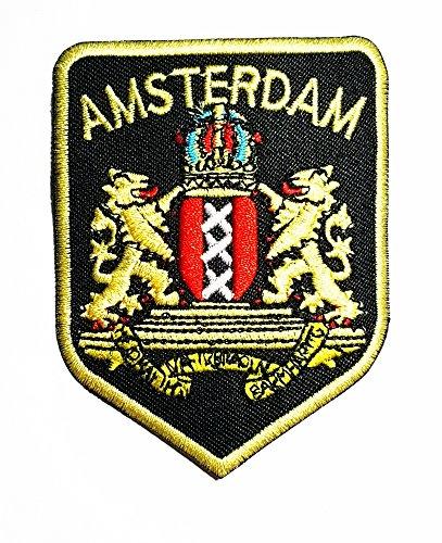 Aufnäher mit Amsterdam-Flagge, Band Logo, zum Aufnähen oder Aufbügeln