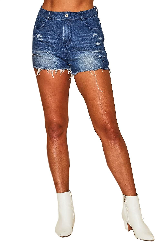 Peach Love California Women's The Ezra Washed Distressed Denim Shorts