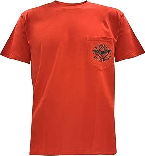 HARLEY-DAVIDSON Men's Road Warrior Short Sleeve Chest Pocket T-Shirt, Tangerine