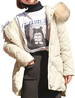 iHHAPY Women Winter Jacket Thick Parka Coat Warm Lined Puffer Jacket Coat Hooded Outdoorjacket with Fluffy Faux Fur Hood