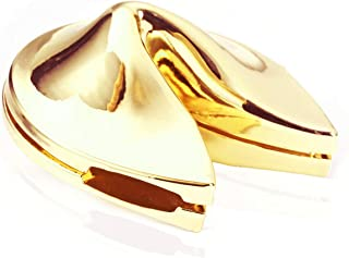 Ruchen Folsom Metal Fortune Cookie Box Charm Gold Color Free Size Fro Gifts and Souvenirs