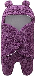 Beaulies Baby Sleeping Bag Wrap Blanket Universal Baby, Cute Blanket Infant Toddlers Swaddle Sleeping Bag for Baby Unisex Blanket (Purple)