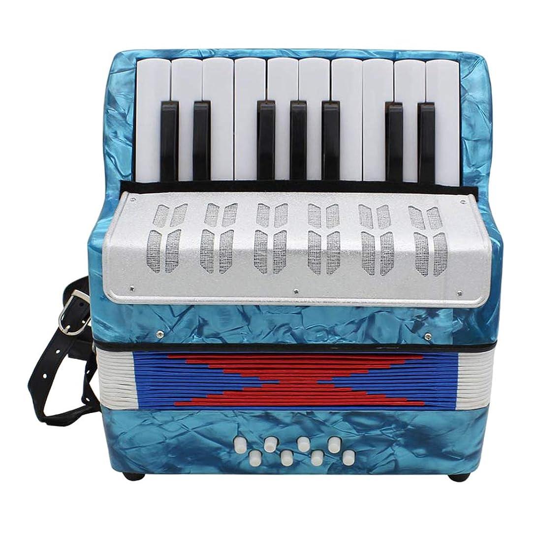 ハードウェア蛾卑しいperfk 性能のためのIRIN 17のキー8の低音のピアノのアコーディオンの楽器 - ライトブルー