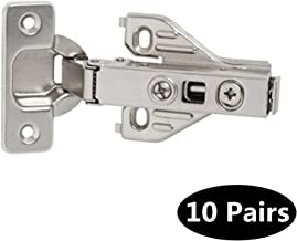 Probrico 10 pairs Soft Closing Full Overlay Concealed Face Frame Kitchen Cabinet Door Hinges