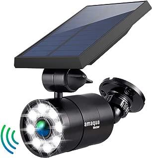 Solar Lights Outdoor Motion Sensor 1400-Lumens 9-Watt(110W Equ.) Aluminum Auto On/Off and Dim to Bright Outdoor Flood Security Spotlight for Patio Garden Driveway, 3-Year 100% FREE Warranty Guarantee