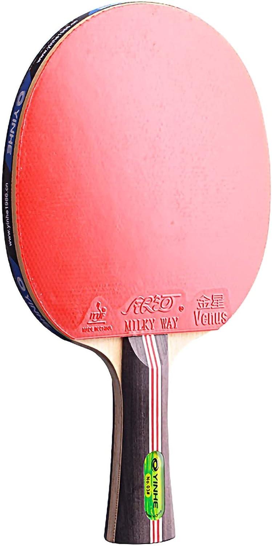 HXFENA Palas de Ping Pong,Raquetas de Tenis de Mesa 3 Estrellas Profesional con Excelente Control Y Giro para Actividades Familiares Club Deportivo/A/mango largo