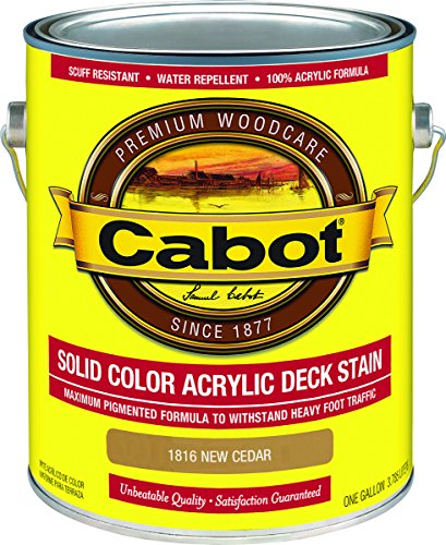 Cabot Stain Acrylic Finish: Flat New Cedar Solid Container Size Gl Low Voc