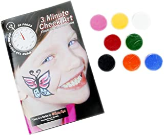 Ruby Red Paint Face Paint, How to Booklet - 3 Minute Cheek Art