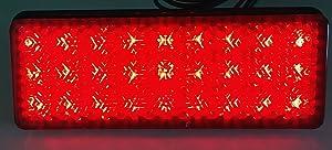 Clear Retangle Reflex Light Assy, 1pc Retangle LED Reflector Reflex Rear Tail Brake Stop or Frame Fender Fairing Front Fork Light for 2000 kawasaki VULCAN 1500 DRIFTER