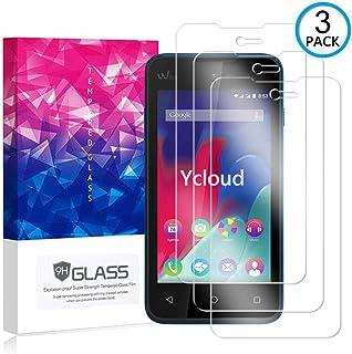 Ycloud [3 Pack] Protector de Pantalla para Wiko Sunset 2,[9H Dureza/0.3mm],[Alta Definicion] Cristal Vidrio Templado Protector para Wiko Sunset 2