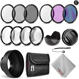 +1, +2, +4 and +10 Diopters Magnification Kit Zeikos 52mm 4 piece high definition Close-Up filter Metal Rim with Deluxe Case and Miracle Fiber Cloth Set
