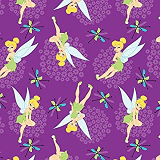 Disney Fabric Tinkerbell Toss Fabric by The Yard