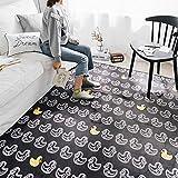 EKEA-Home® Alfombra geométrica, antideslizante, lavable, grande, para el cuarto de bebé, para el salón, dormitorio, patos, 45 x 75 cm
