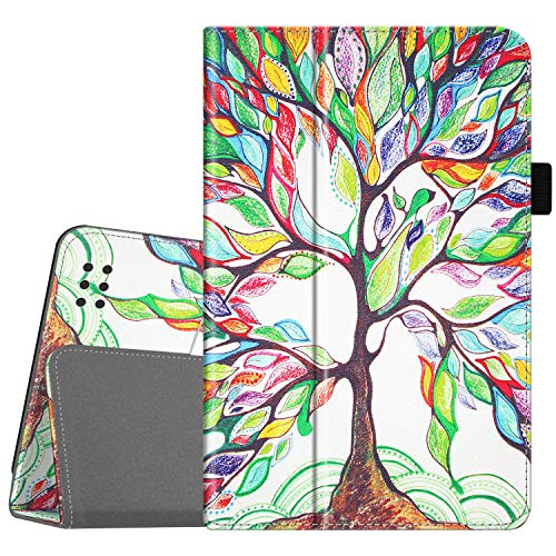 Fintie Folio Case for Kindle Fire 1st Generation - Slim Fit Stand Leather Cover for Amazon Kindle Fire 7' Tablet (Will only fit Original Kindle Fire 1st Gen - 2011 Release, no Rear Camera), Love Tree