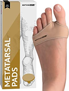 Fabric Metatarsal Pads - Ball of Foot Cushion Sleeves Burning Sensations Forefoot Blisters Metatarsalgia Pain Relief Foot ...