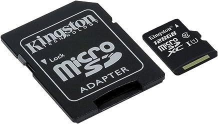 Kingston SDCS/128GB Canvas Select Scheda MicroSD 128 GB, Velocità UHS-I di Classe 10 fino a 80 MB/s in Lettura, con Adattatore SD