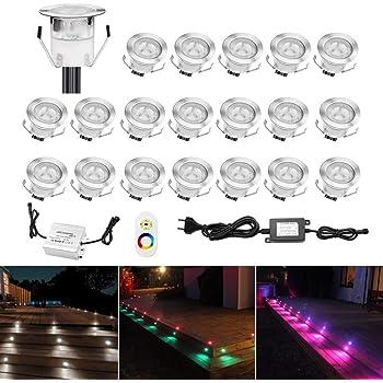10 x 0,4W Mini LED Boden Einbaustrahler Einbauleuchte Außen Treppe Küche Lampe
