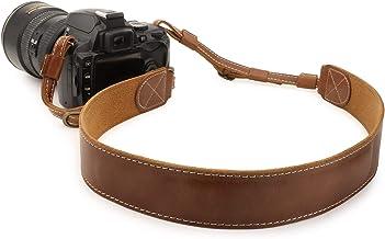 شانه یا بند گردن دوربین چرم اصل MegaGear MG1515 Sierra - قهوه ای جمع و جور
