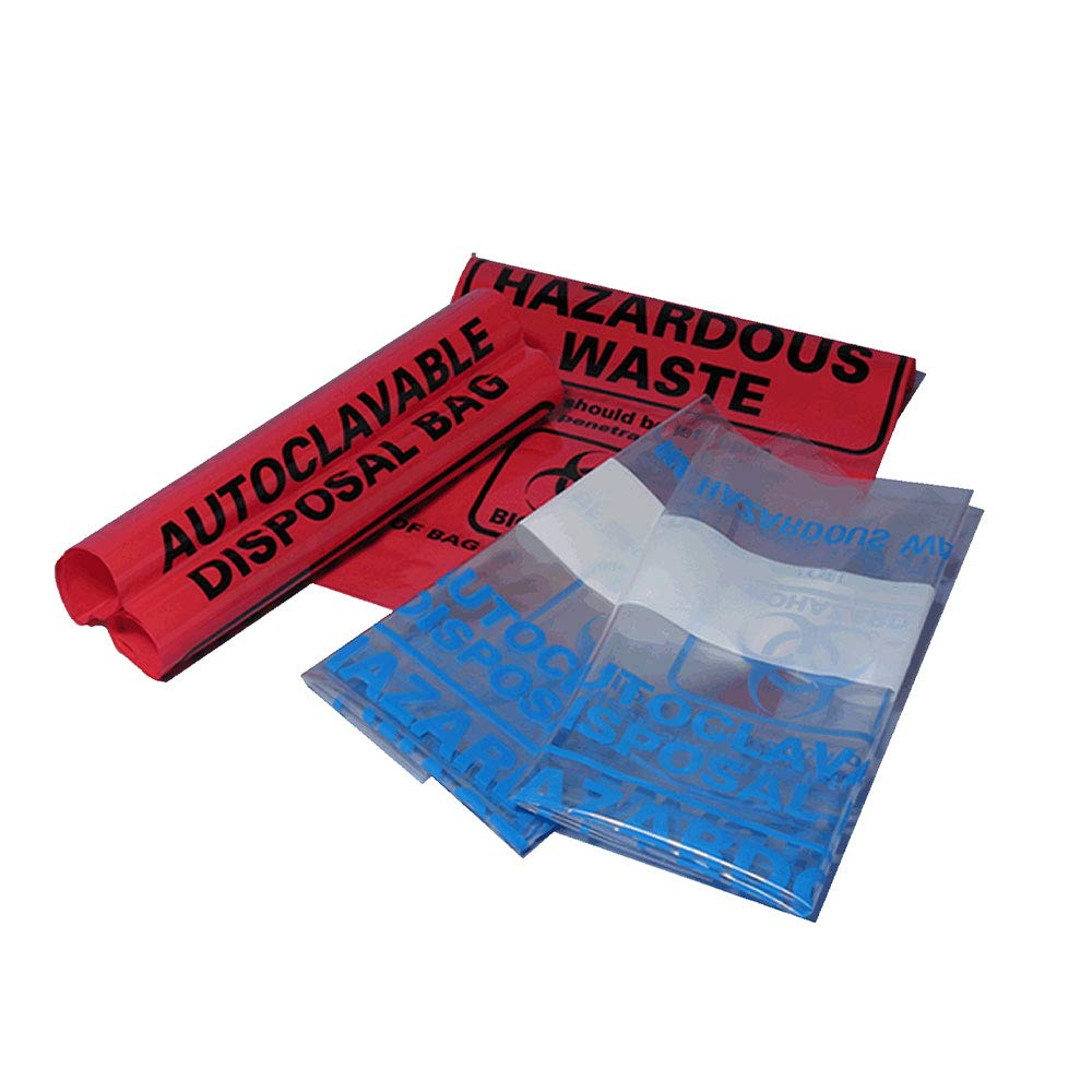 Biohazard Dealing full price reduction Autoclave Bags Red 24 x Marking 4 Panel Bag 32in National uniform free shipping w
