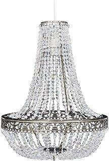 vidaXL Kroonluchter met Kristallen 36,5x46 cm Hanglamp Plafondlamp Verlichting