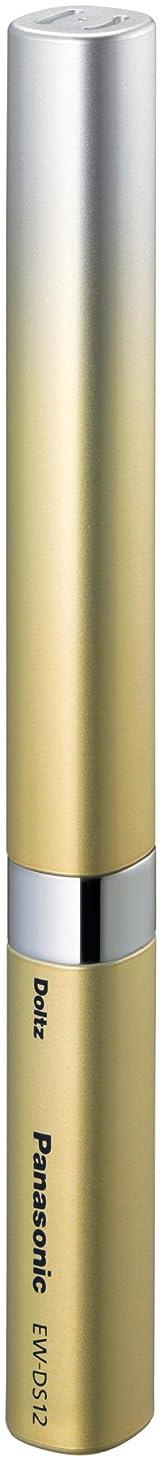 粘性の浜辺アヒルパナソニック ポケットドルツ 音波振動ハブラシ ゴールド EW-DS12-N