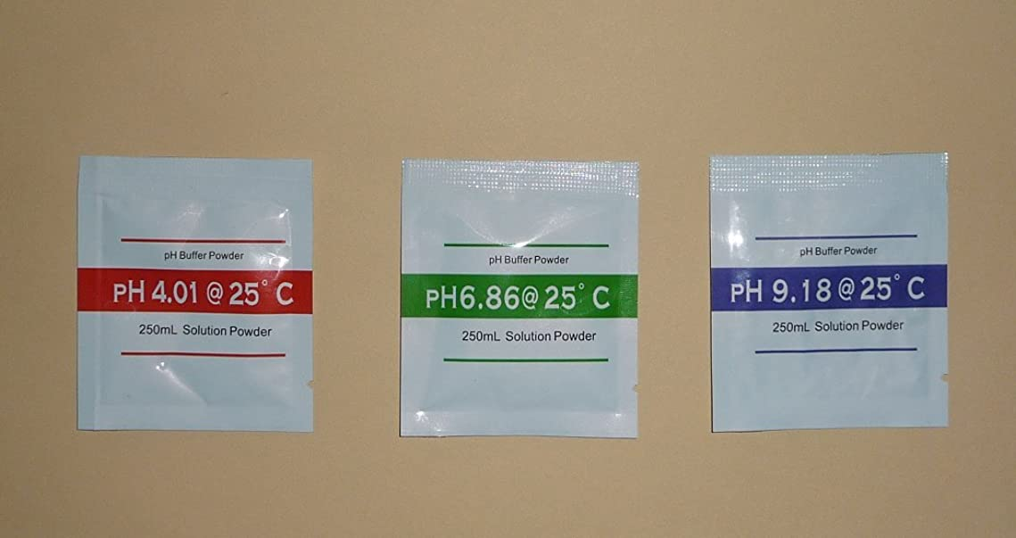 天国天皇パレード送料0円PH標準緩衝剤PH計標準液用PH4.01、PH6.86、PH9.18セット250mL用×計3袋入(各1袋)