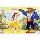 Beauty and The Beast Puzzle Adulto 1000 Piezas Un Divertido Juego de Inteligencia de Rompecabezas cooperativo Familiar Lleno de desafíos y logros 38x26cm