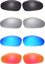 4 Pairs NicelyFit Polarized Replacement Lenses for Oakley Juliet Sunglasses Glass Frame