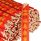 RG Paper Premium Disposable Bamboo Chopsticks Sleeved and Seperated (500), White