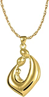 Memorial Gallery 0969gp Family Embrace Teardrop 14K Gold/Sterling Silver Plating Cremation Pet Jewelry