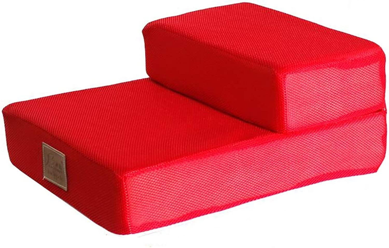 Pet Stairs BSNOWF Red for Small Dogs Cats, Indoor Home Couch Bed Sofa Removable And Washable Cover (Size   2 steps)