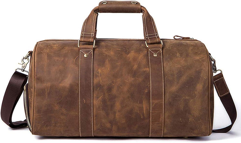 Asdflina Herren Messenger Schultertasche Vintage Leder Aktentasche Crossbody Day Bag für Schule und Arbeit Geschäft lässig B07MT9ST7F