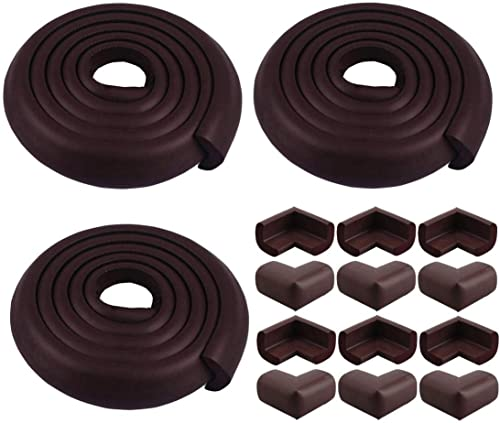 Store 2508 Combo Pack of Child Safety Strip Cushion and Corner Guards (Brown)