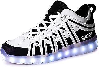 ON LED Schuh USB Aufladen 7 Farbe Leuchtend Sportschuhe Sneakers Turnschuhe Freizeit Schuhe Fuer Unisex-Erwachsene Herren ...