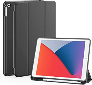 iPad 10.2 Case, iPad 10.2 8th Gen(2020)/7th Generation(2019) Case with Pencil Holder, Slim Soft Silicone Back Cover for 1...