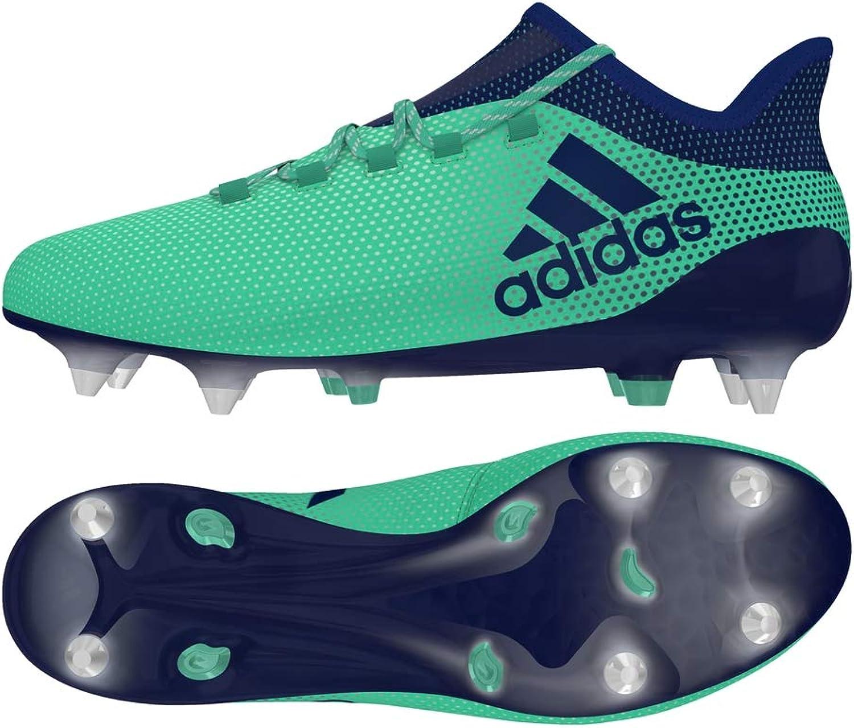 Adidas Performance Mens X 17.1 Soft Ground Sports Football Boots - Green - 11