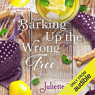 Barking Up the Wrong Tree                   By:                                                                                                                                 Sawyer Bennett writing as Juliette Poe                               Narrated by:                                                                                                                                 Stephen Dexter,                                                                                        Alexander Cendese,                                                                                        Noelle Bridges,                   and others                 Length: 5 hrs and 53 mins     8 ratings     Overall 4.9
