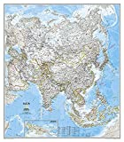 Asien politisch, laminiert: Wall Maps Continents (National Geographic Reference Map)