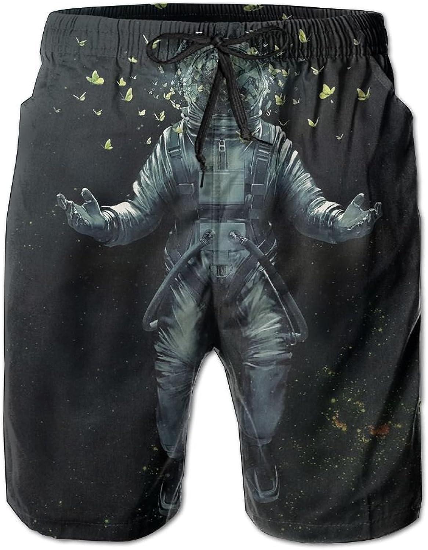 a15757345 Tydo Tydo Tydo Space Astronaut Butterfly Men's Beach Shorts Loose ...
