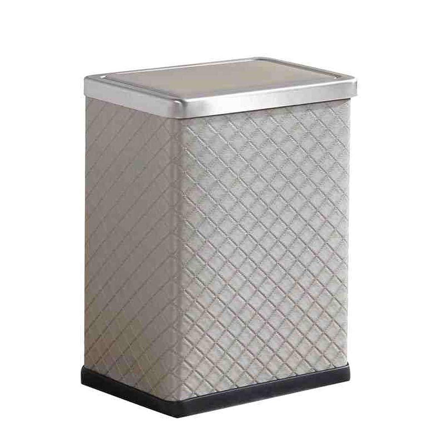今まで小川証拠屋内ゴミ箱 蓋付きのクリエイティブヨーロッパの革のゴミ箱の家庭の台所バスルーム、リビングルーム