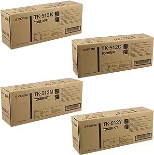 Kyocera Part # TK-512C. TK-512K. TK-512M. TK-512Y OEM Toner Cartridge Set