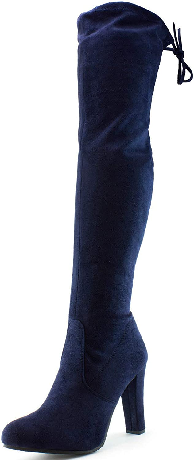 S&F SF Women's Over The Knee Boots Chunky Heels String Riding Women's shoes