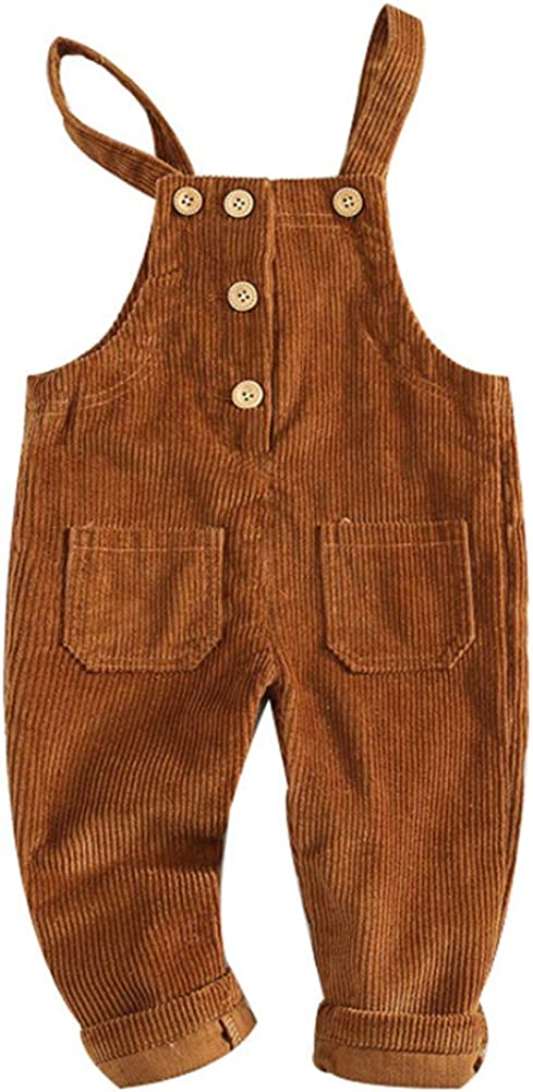 Atlanta Mall Digirlsor Today's only Baby Toddler Girls Boys Overalls Corduroy Bib Suspende