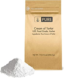 Cream of Tartar (1 lb.) by Pure Organic Ingredients, Eco-Friendly Packaging, All-Natural, Non-GMO, Kosher, for Baking, Cleaning, DIY Bathbombs, More