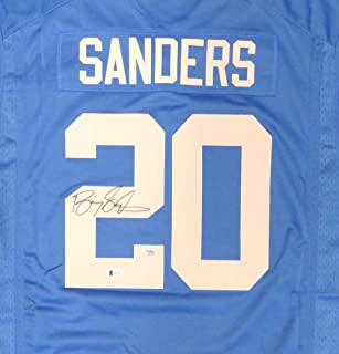 barry sanders signed jersey