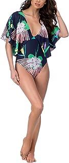 Best flutter sleeve one piece swimsuit Reviews