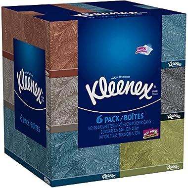 Kleenex 715821386393 Everyday Facial 160 Tissues Per Flat Box, Pack of 6, kkkkk
