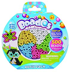 Beados are the magic beads that join with a spray of water! The perfect way top up your Beados World! Including 500 beads in 5 fabulous colours Make and display even more Beados designs using your other Beados products Create even more cool Beaods de...