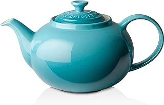 Le Creuset PG0328-0017 Teal Classic Teapot, 1 2/5 quart, Caribbean